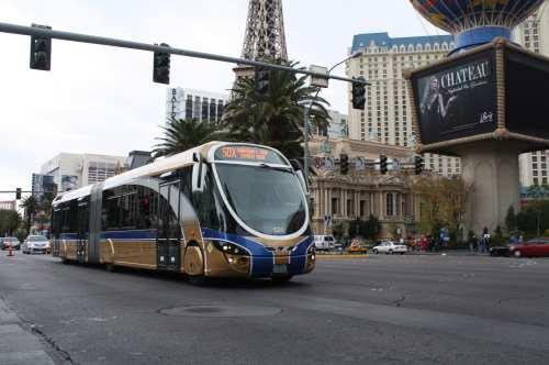 Los autobuses de la Comisión del Transporte Regional (RTC) del sur de Nevada. (Foto Agustín Durán/El Pasajero)