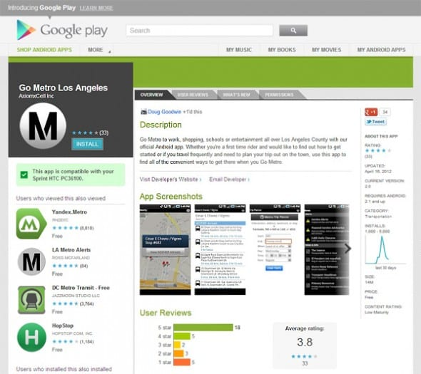 Go Metro apps en Google Play