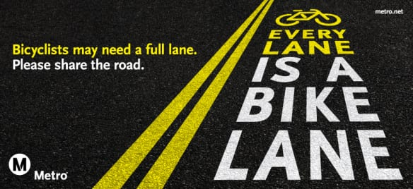 carril para ciclistas