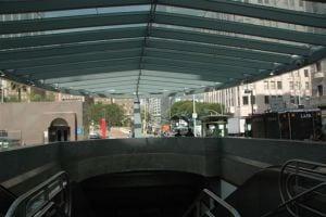 Otra vista del pabellón en Pershing Square. Foto: José Ubaldo/Metro.