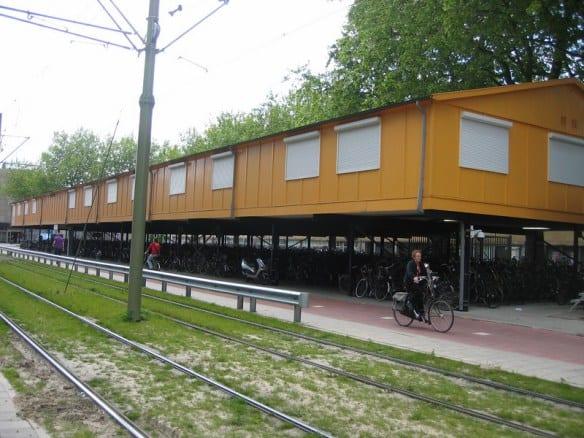 Estacionamientos para bicicletas en Rotterdam.