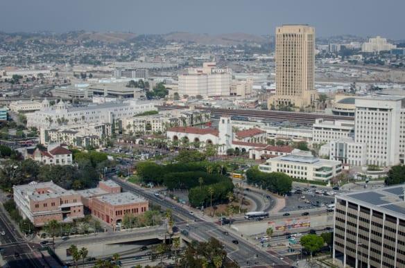 El edificio de Union Station y los terrenos que la rodean. Foto: Steve Hymon/Metro.
