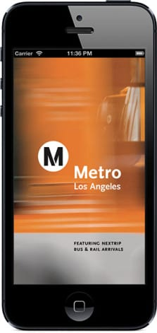 La aplicación Go Metro en iPhone.