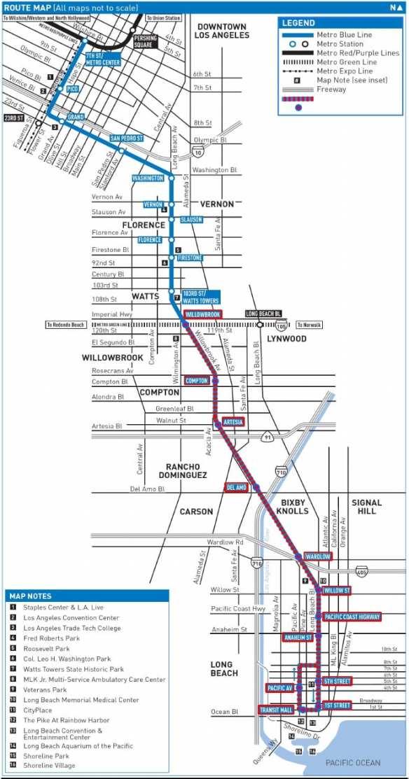mapa Blue Line