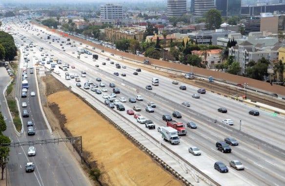 Vista general de la sección abierta al tráfico del nuevo carril. Foto: Dave Sotero/Metro.
