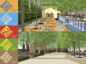 Ilustración de las mejoras planeadas para la ciudad de Monrovia.