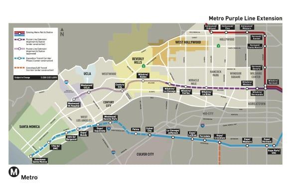 mapa Línea Púrpura