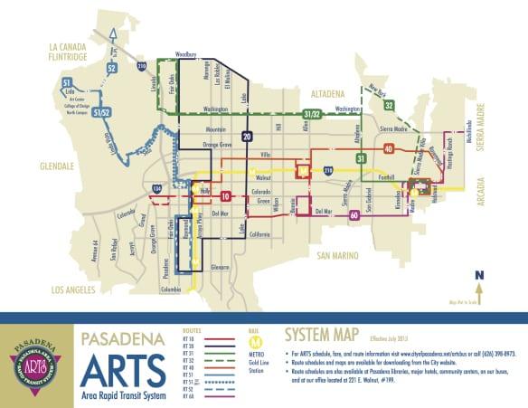 map Pasadena
