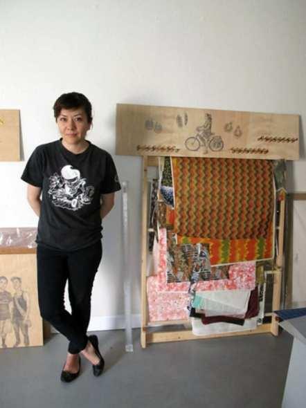 Shizu Saldamando en su estudio.