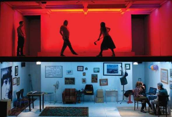 """Escena de la obra """"Cineastas"""". Foto: Facebook."""