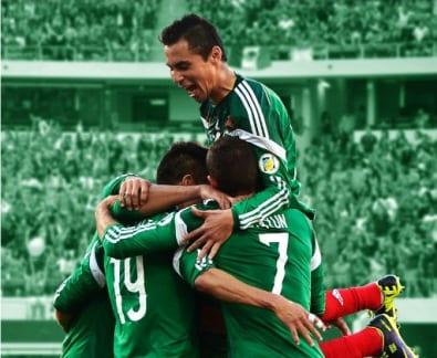 Equipo de fútbol mexicano. Foto: Los Angeles Memorial Coliseum.