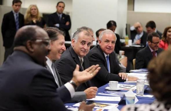 Funcionarios de la ciudad de Miami que viajaron a Denver. Foto: El Nuevo Herald.