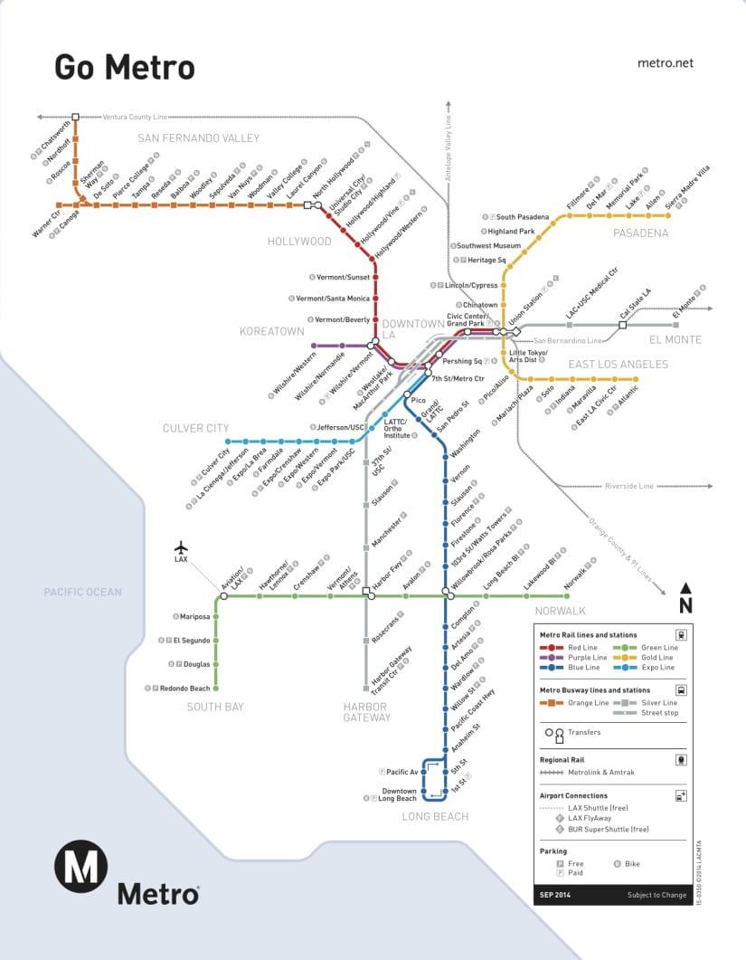 mapa trenes Metro