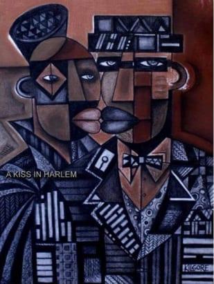 A Kiss in Harlem, obra en el California African American Museum.