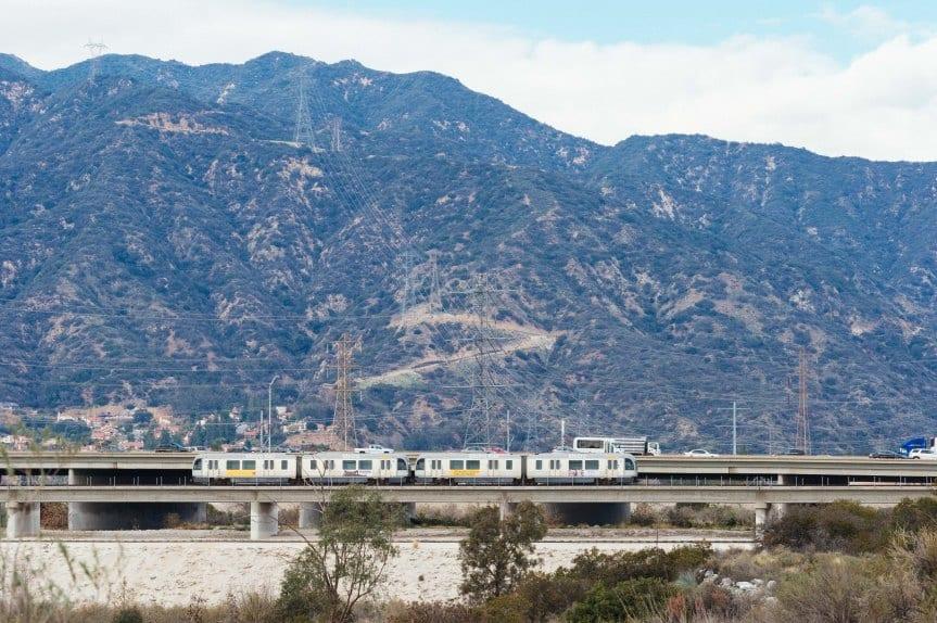 Tren de la Línea Dorada en Irwindale. Foto: Steve Hamon/Metro.