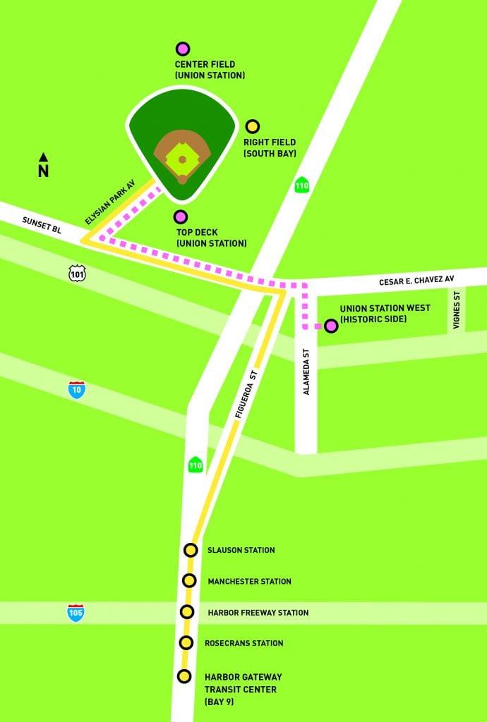 map Dodger Stadium Express