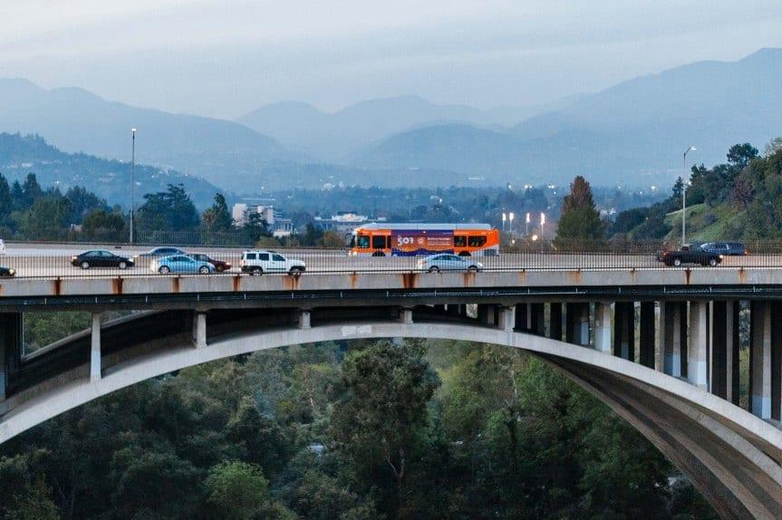 Autobús de Norh Hollywood a Pasadena. Foto: Steve Hamon.
