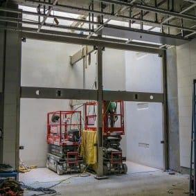 09.19.19-MLK-Station-Progress-10-Elevator-framework-from-plaza-to-mezzanine