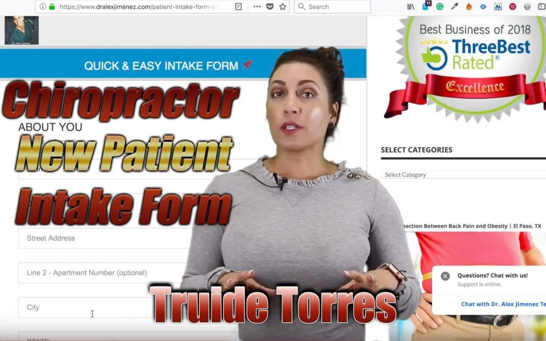 New Patient Intake Form Chiropractor | El Paso, TX. | Video