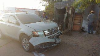 domicilio de la colonia Internacionalcon daños por choque de vehículo que contaba con reporte de robo (1)