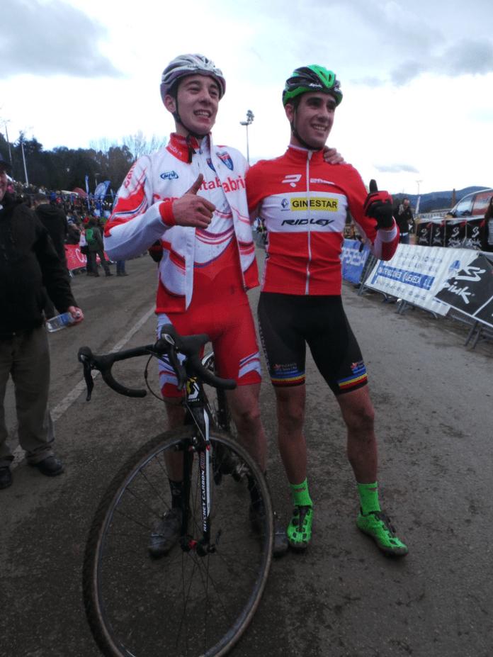 Adrián García y Felipe Orts tras la carrera. Foto: © RFEC