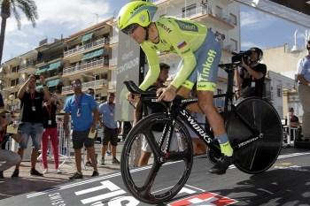 Alberto Contador (Tinkoff) en la 19a etapa de la Vuelta a España 2016 © J.A. Miguelez