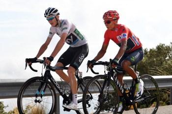 Chris Froome (Team Sky) y Nairo Quintana (Movistar) en la 20a etapa de la Vuelta a España 2016 © Graham Watson
