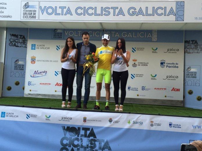 Samuel Blanco liderará la Volta a Galicia el último día (Foto: @CCRiasBaixas )