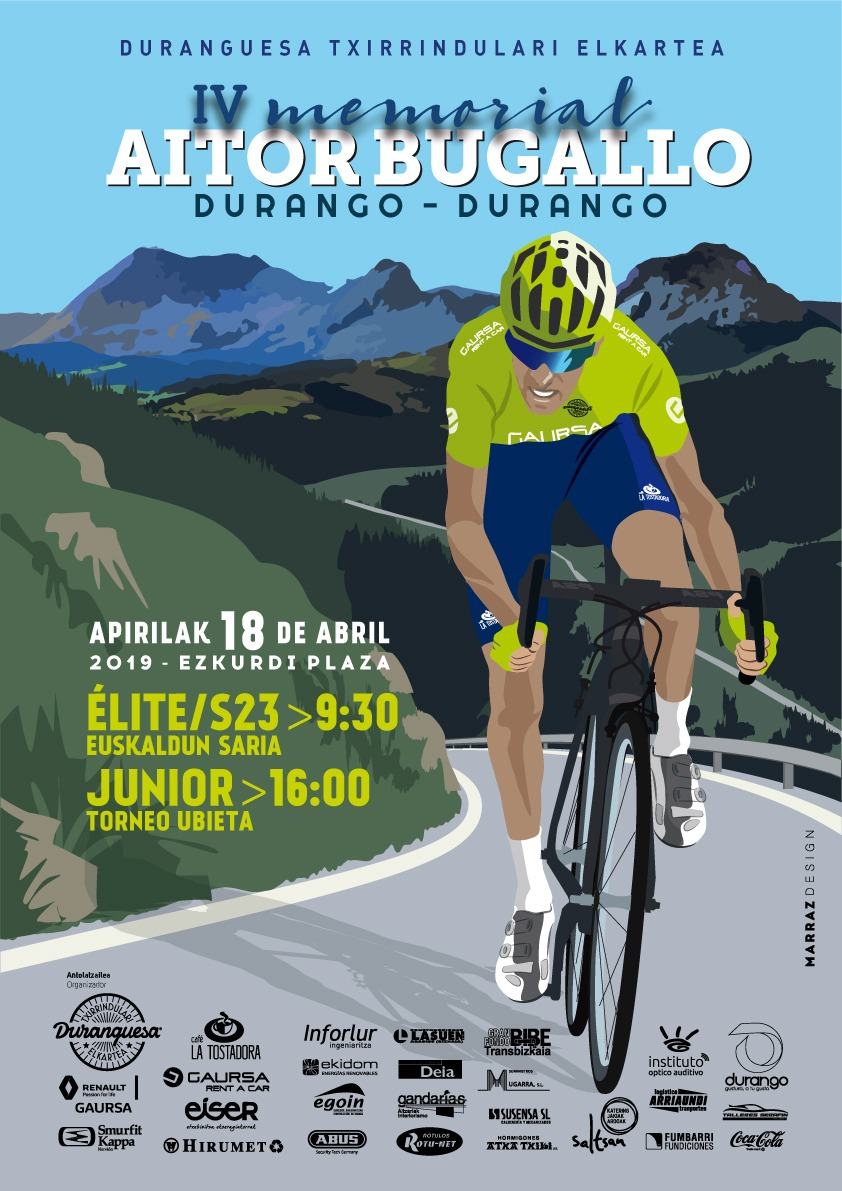 Cartel Durango Memorial Aitor Bugallo 2019