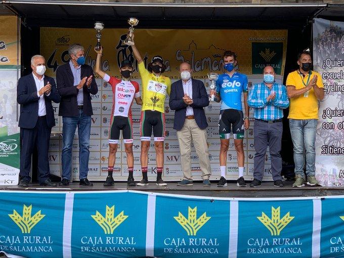 Podium final de la Vuelta a Salamanca