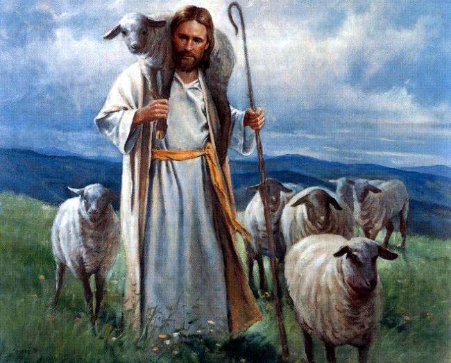 Resultado de imagen para En aquel tiempo, Jesús habló así: «Yo soy el buen pastor. El buen pastor da su vida por las ovejas. Pero el asalariado, que no es pastor, a quien no pertenecen las ovejas, ve venir al lobo, abandona las ovejas y huye, y el lobo hace presa en ellas y las dispersa,