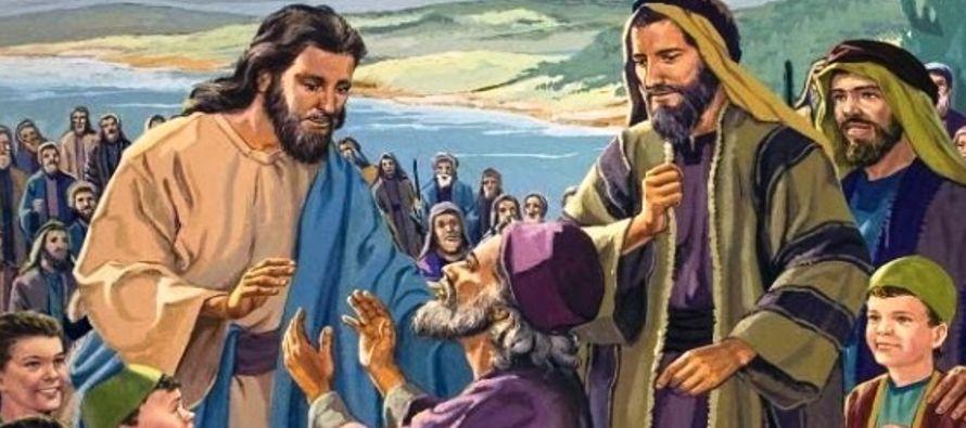 Resultado de imagen para En aquel tiempo, Jesús se marchó de la región de Tiro y vino de nuevo, por Sidón, al mar de Galilea, atravesando la Decápolis. Le presentan un sordo que, además, hablaba con dificultad, y le ruegan que imponga la mano sobre él. Él, apartándole de la gente, a solas, le metió sus dedos en los oídos y con su saliva le tocó la lengua. Y, levantando los ojos al cielo, dio un gemido, y le dijo: «Effatá»,