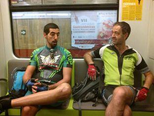 Llegando en el metro