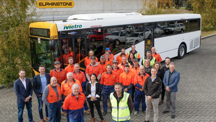 Elphinstone 100th Metro Bus