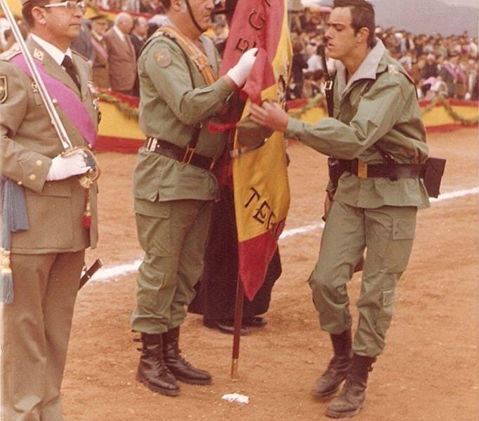 D. Pedro del Salto, mi Teniente en 4ª Sección de PLMM. Un LEGIONARIO.