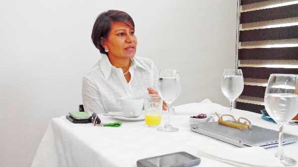 Rosalía Núñez Flórez, gerente de Camacol en el Cesar.