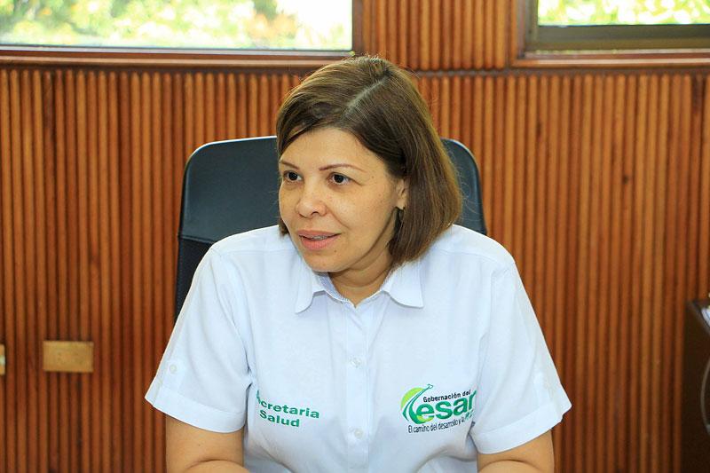 La secretaria de Salud Departamental, Carmen Sofía Daza, explicó detalles del Programa de Atención Psicosocial y Salud Integral a Víctimas que se realizará en el Cesar.