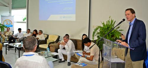 El director de la Oficina del Alto Comisionado de Derechos Humanos, Todd Howland, presentó en Valledupar el informe que devela las debilidades al firmar el tratado de paz con las Farc. EL PILÓN / Camilo Peralta.
