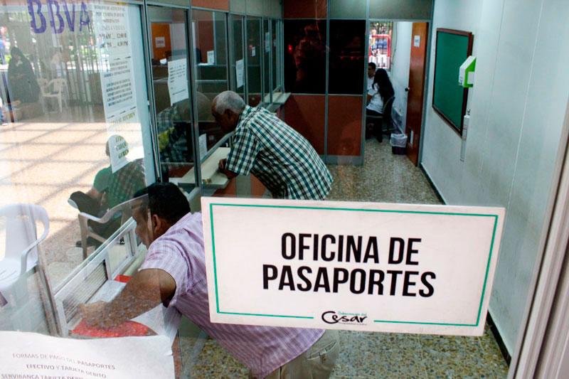 Hasta julio de 2018, la Oficina de Pasaportes del Cesar ha expedido 7.696 documentos, equivalente a 1.100 mensuales.