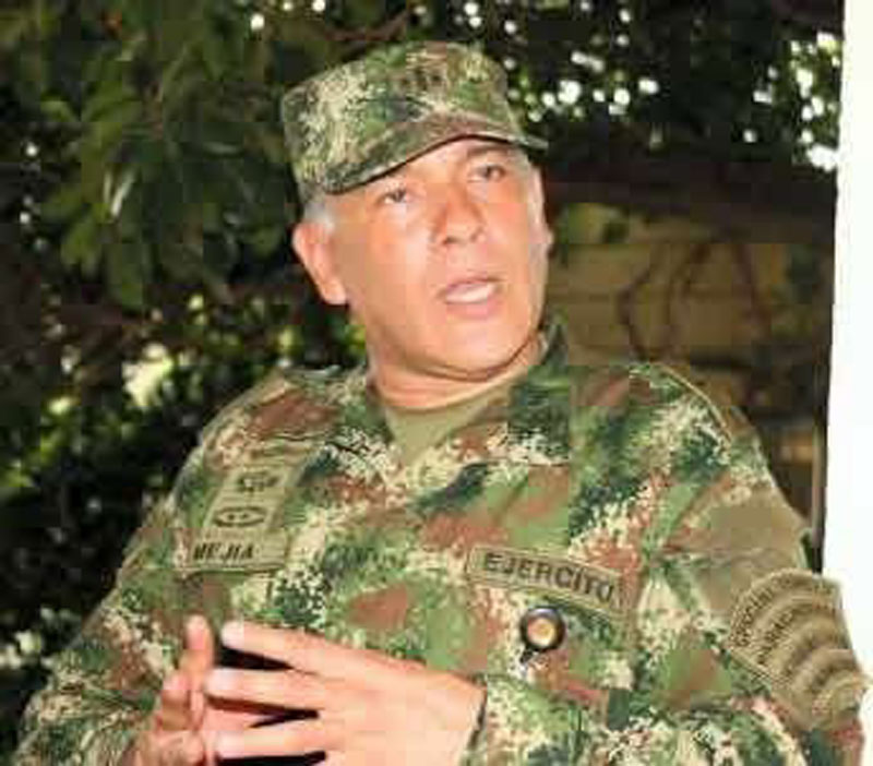 Coronel Plubio Hernán Mejía.