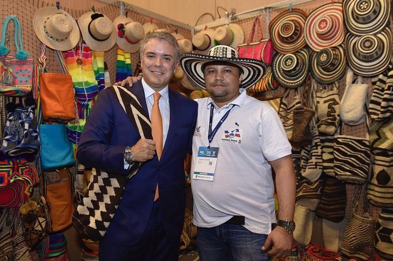 El Presidente de Colombia Iván Duque destacó en una publicación de Instagram el stand del Cesar en Nexos 2018.