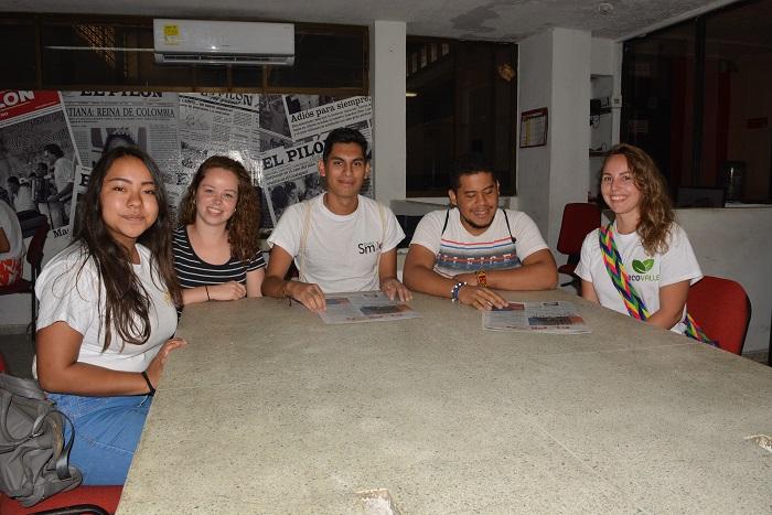 Aquí aparecen los intercambistas del extranjero que se encuentran en Valledupar.