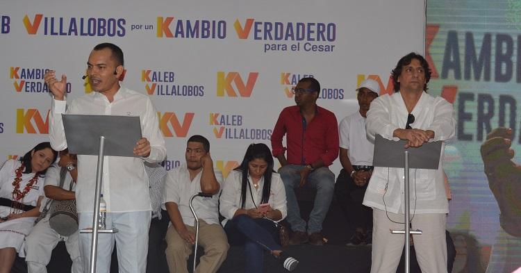 En conferencia de prensa, Kaleb Villalobos Brochel presentó su aspiración a la Gobernación.