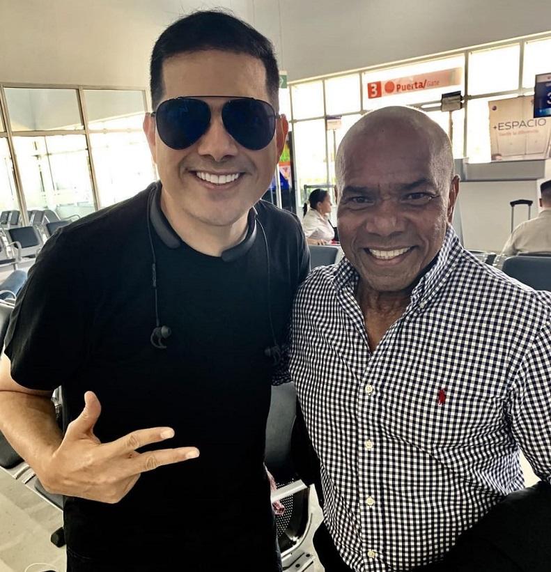 Peter Manjarrés y Miguel Morales.   Foto: Instagram Peter Manjarrés.