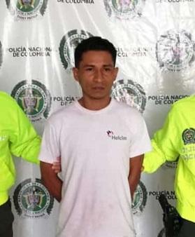 Erinson Romero fue detenido en La Nevada.  Foto: Cortesía.