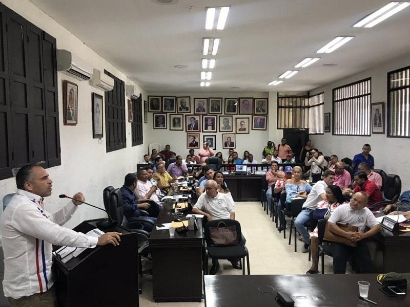 En segundo debate por la inseguridad de Valledupar hubo discusiones. FOTO CORTESÍA