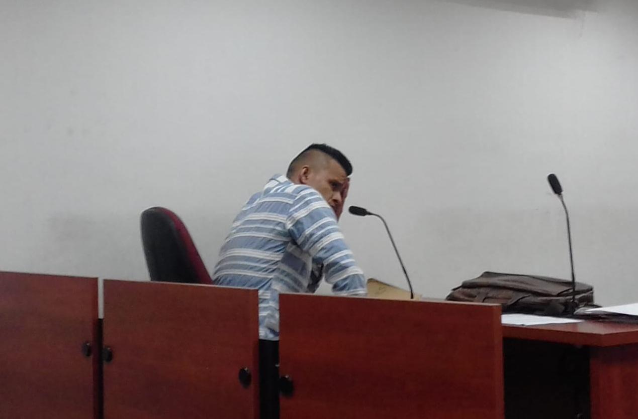 Federico Florián Alvarado fue llevado a audiencia.   FOTO: JUDICIALES.