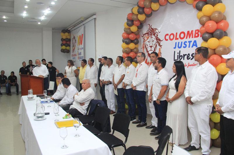 El partido Colombia Justa Libres entregó aval a Kaleth Villalobos Brochel.  Foto: Cortesía.