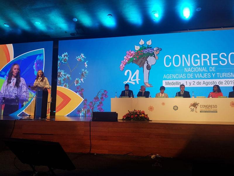 Ayer fue la instalación del 24 Congreso Nacional de Agencias de Viajes y Turismo. Aquí aparece la presidenta ejecutiva de Anato, Paula Cortés Calle. Cortesía/EL PILÓN