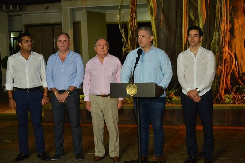 El presidente Iván Duque confirmó, desde Valledupar, que Luis Alberto Rodríguez será el nuevo director del DNP.  Foto: Sergio Mgreen